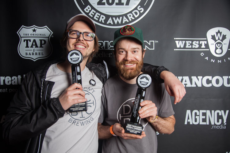 Doan's took home two Creative Industry Awards in 2017. Image from Christine McAvoy/BC Beer Awards 2017